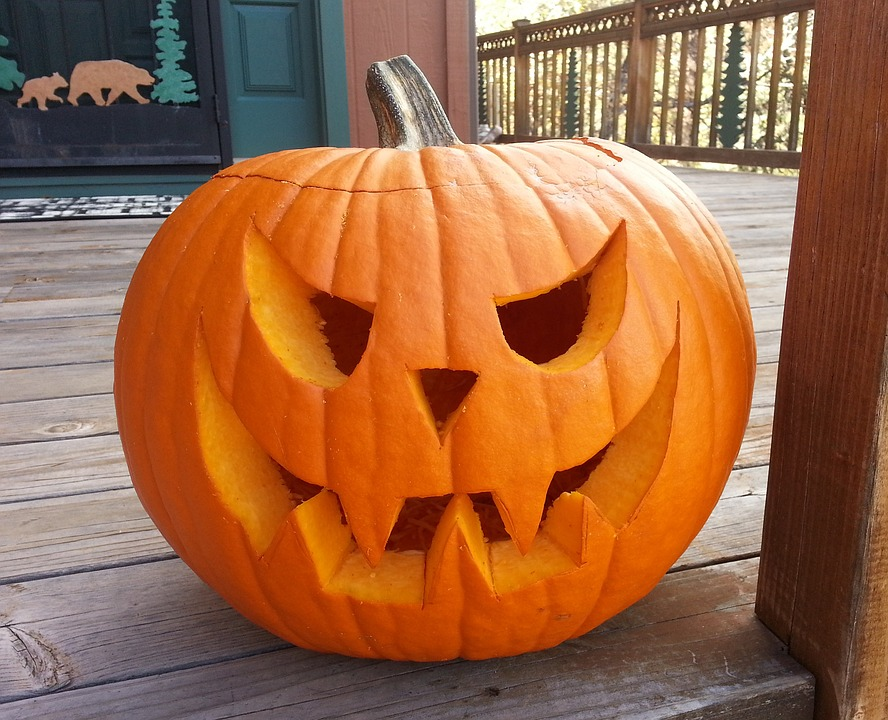 carved pumpkin, october, halloween