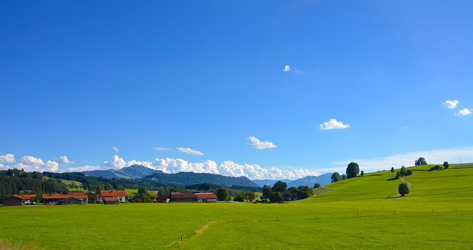 mountains, allgäu, sky