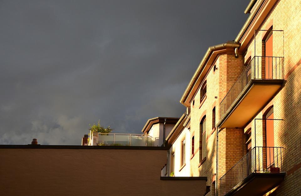thunderstorm, mood, evening