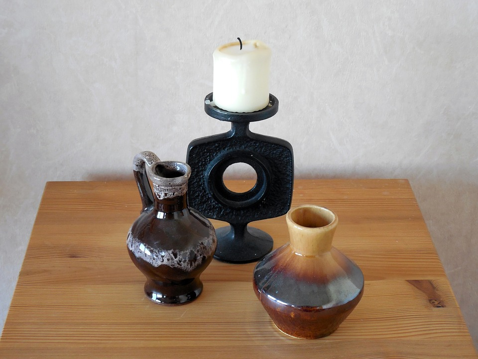 candle, candlestick, vase