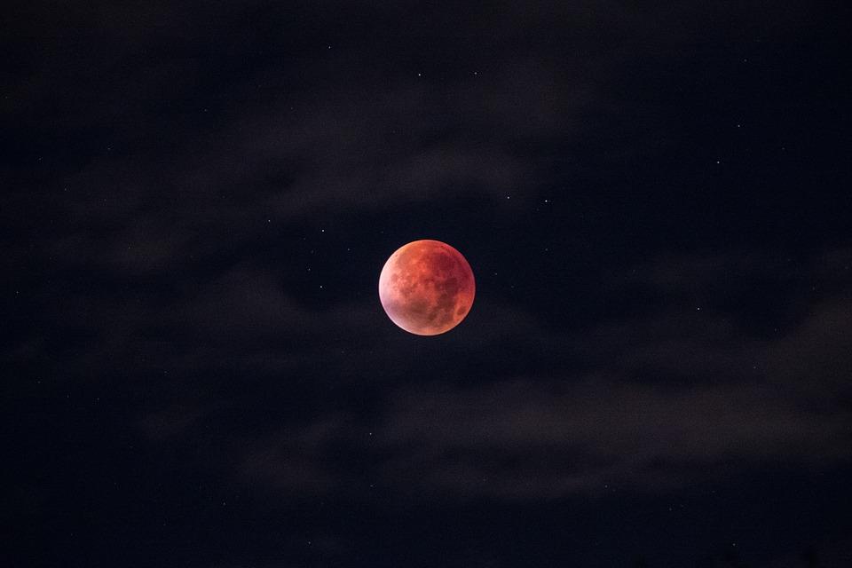lunar eclipse, blood moon, moon