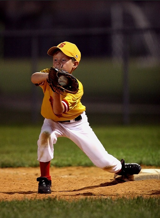 baseball, catch, little league