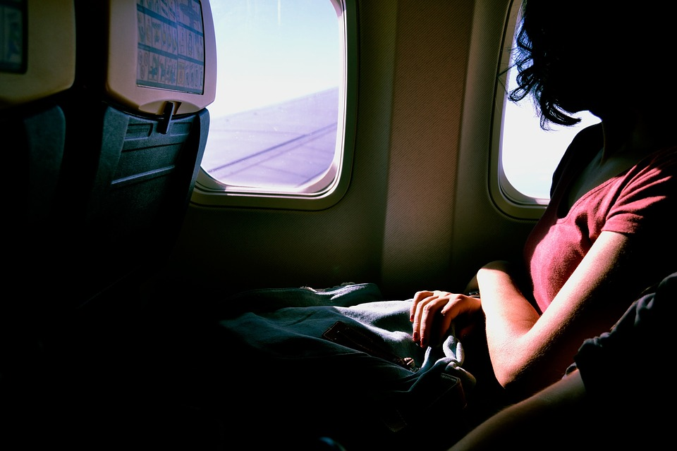 airplane, travel, flight