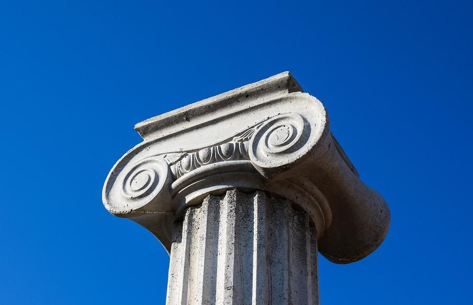 pillar capitals, greek, architecture