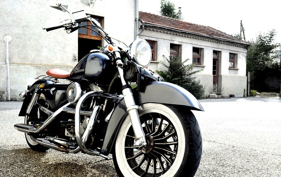 motorcycle, chrome, bikers