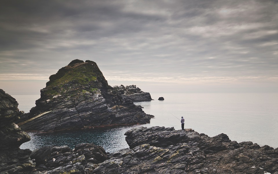 fishing, rocks, oceans
