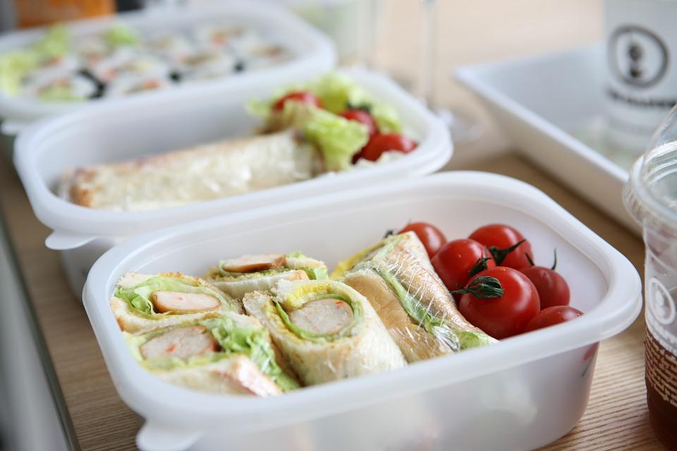 lunch box, picnic, sandwich