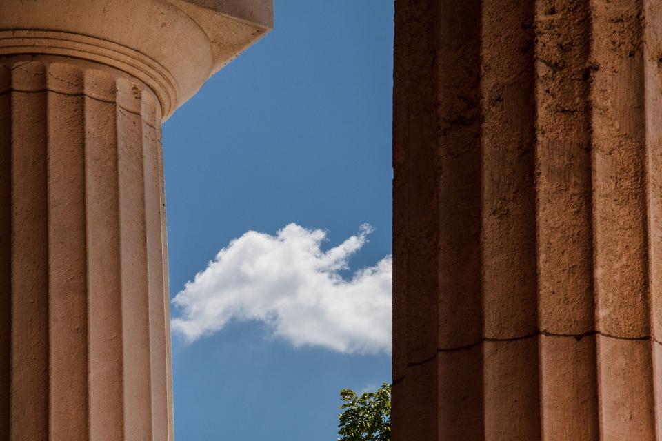 temple, doric columns, classical order