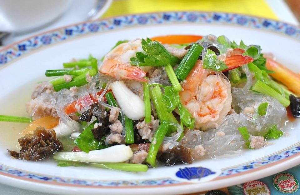 vermicelli salad, thailand food, dish