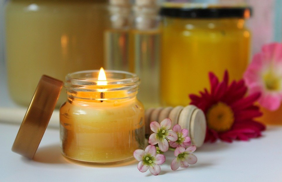 beeswax candle, beeswax, honey products