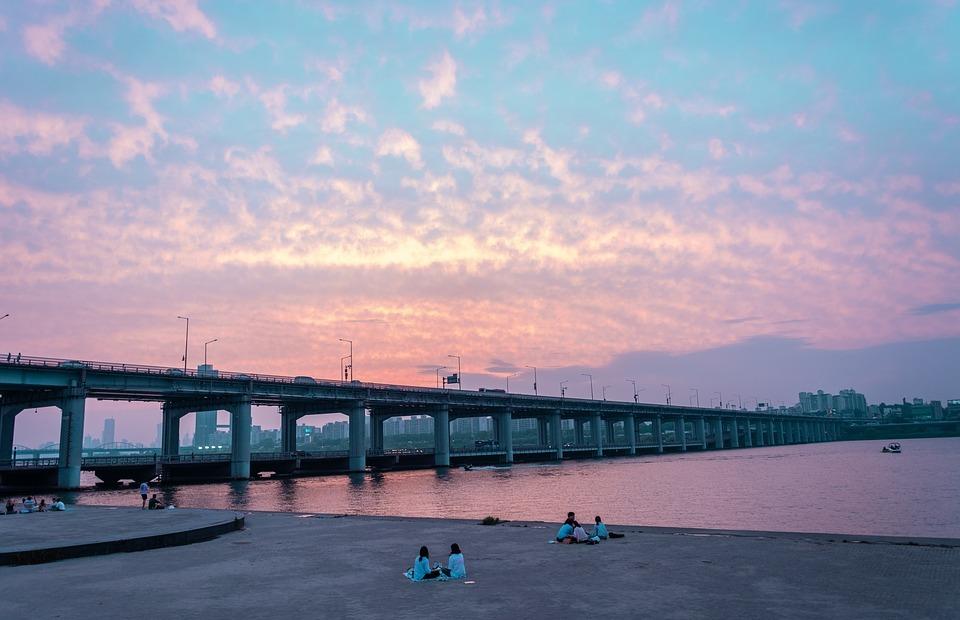 korea, south korea, bridge