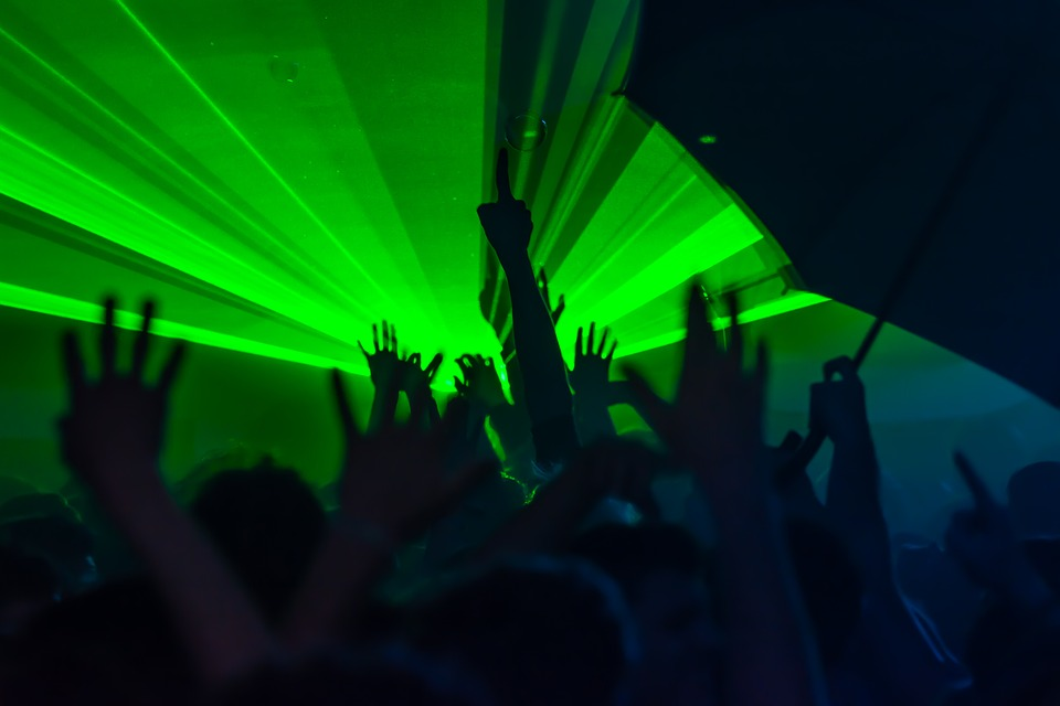 party, lights, music