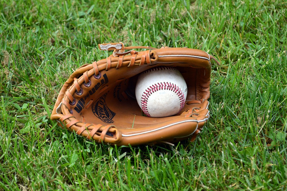 baseball, glove, ball