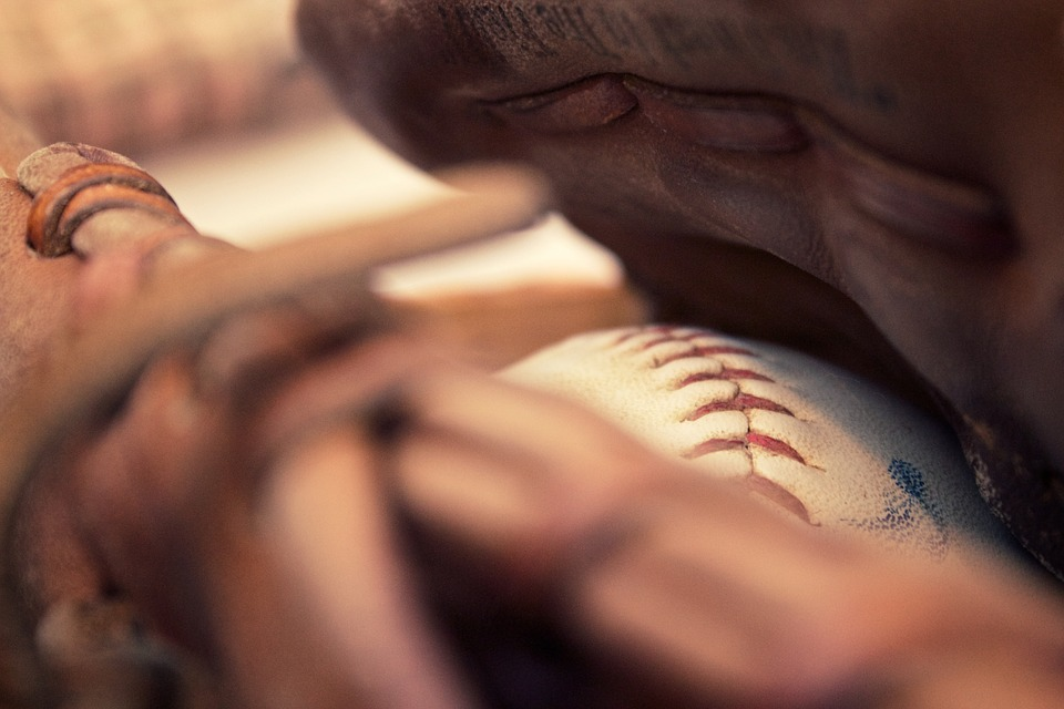 baseball, ball, baseball glove