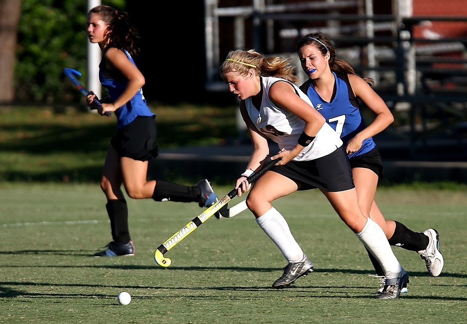field hockey, player, girls