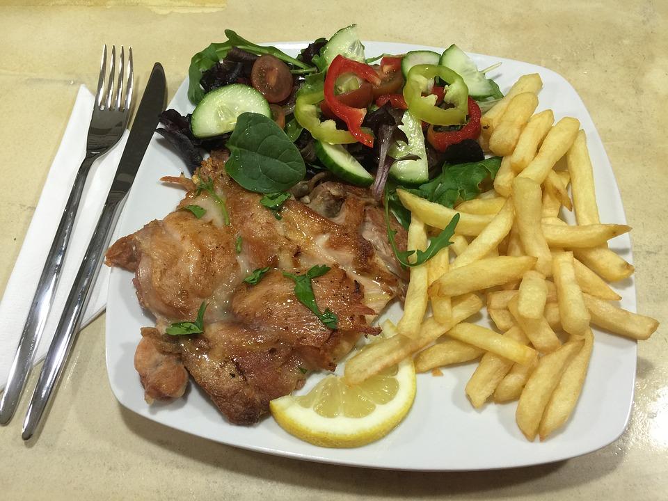 chicken, food, dish