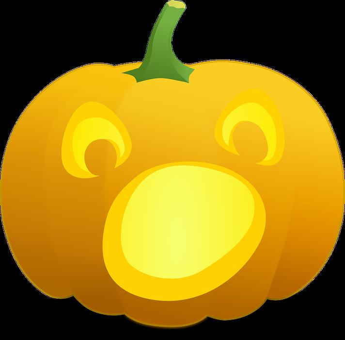halloween, pumpkin, scared