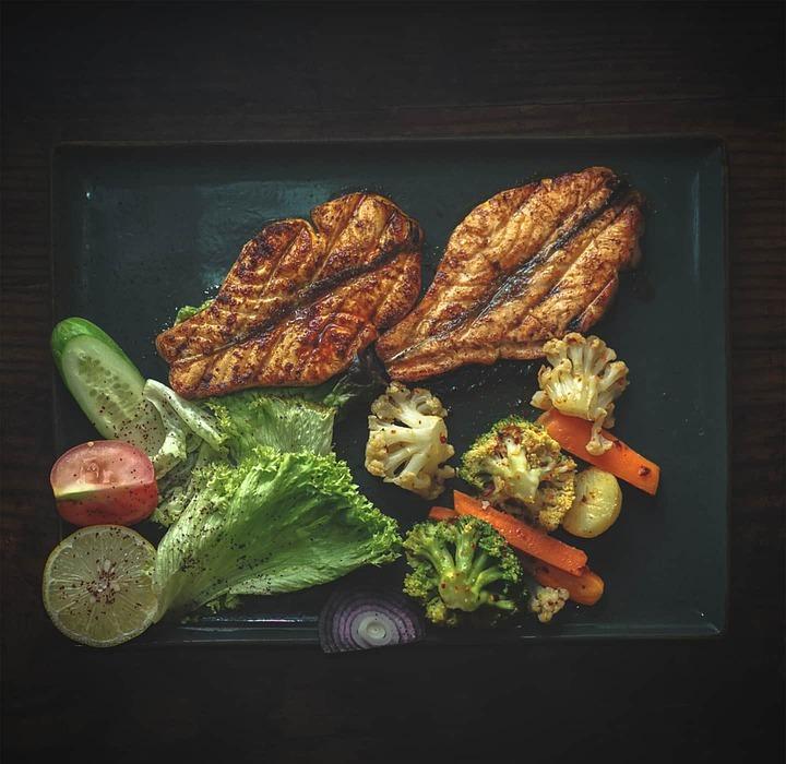 food, dish, fish