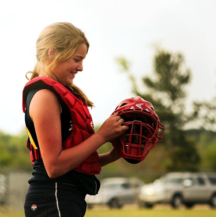 softball, catcher, sport
