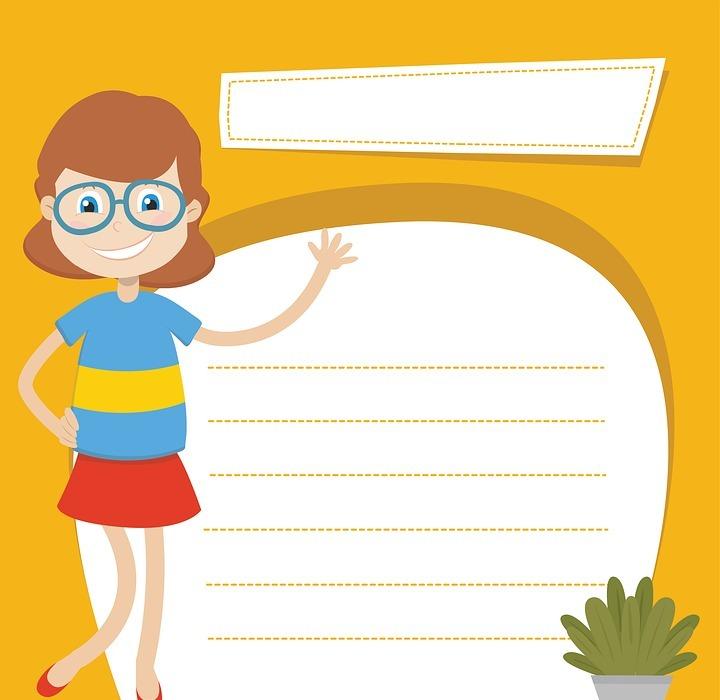teacher, paper, woman