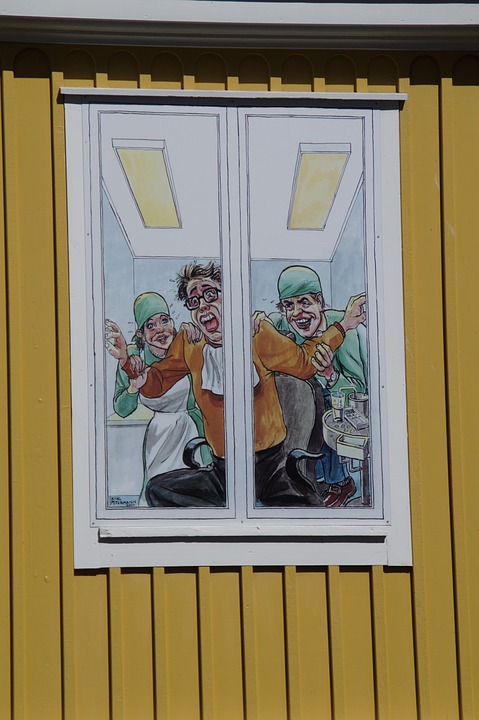 dentist, window, advertising