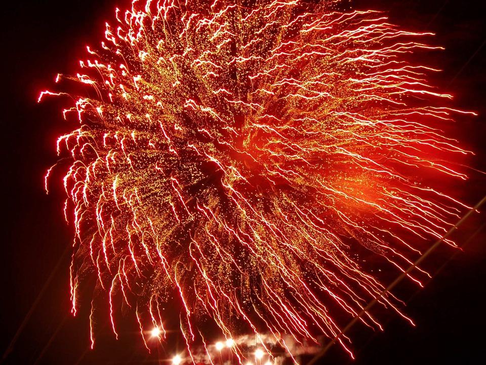 fireworks, celebration, rocket