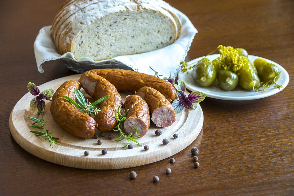 healthy regional dishes, country sausage, regional products