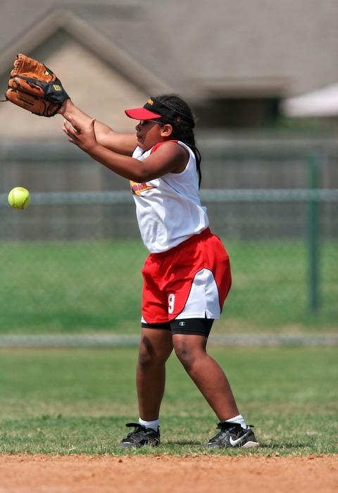 softball, player, female