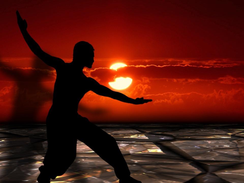 martial arts, tai chi, silhouettes