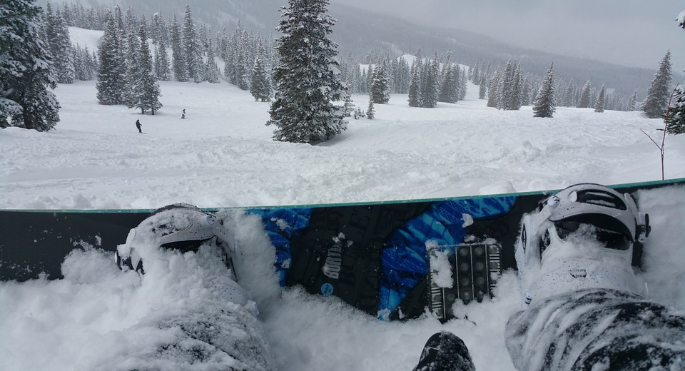 winter, snow, snowboarding