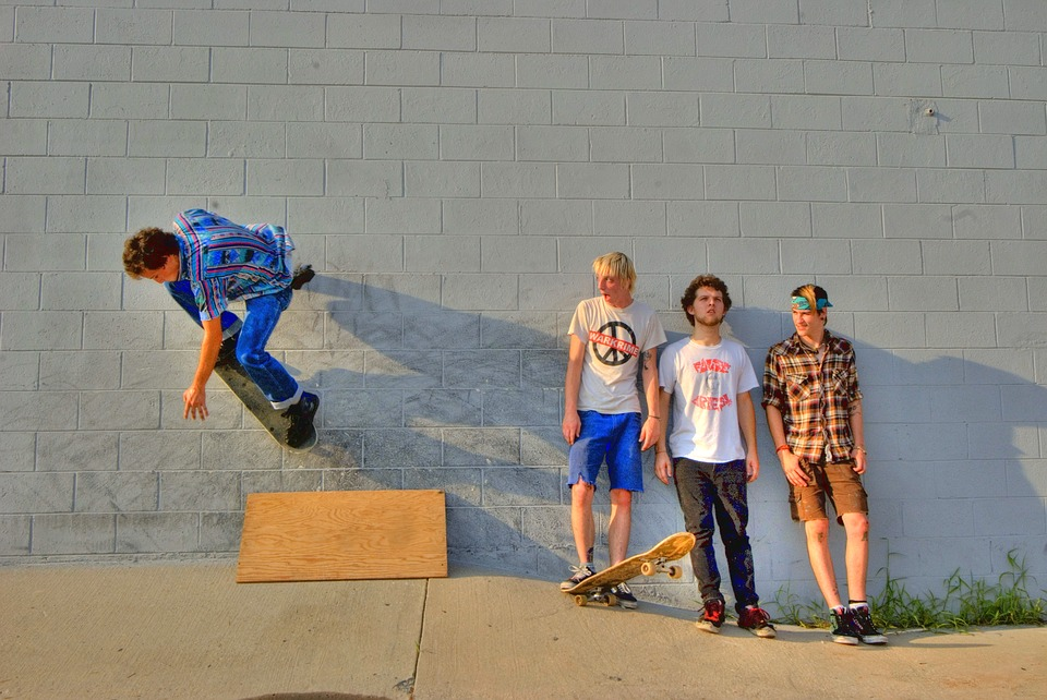 skateboard, young men, youth