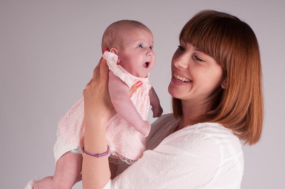 child, family, newborn baby