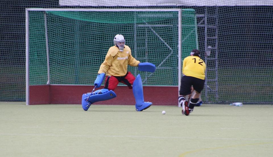 sport, hockey, goalkeeper
