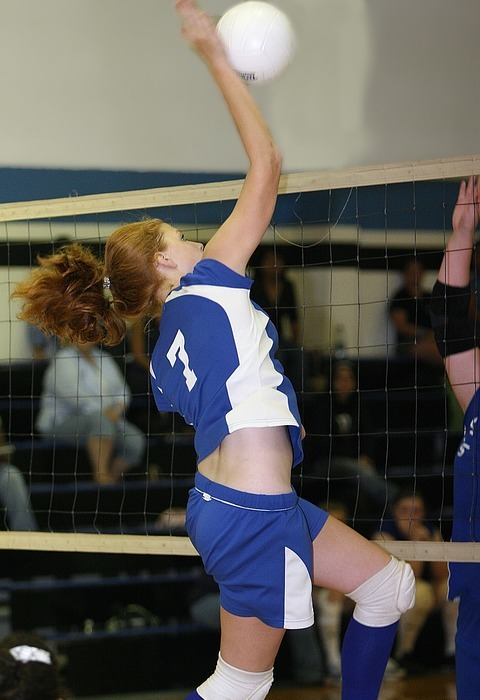 volleyball, player, game
