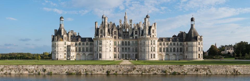 chateau chambord, castle, landscape