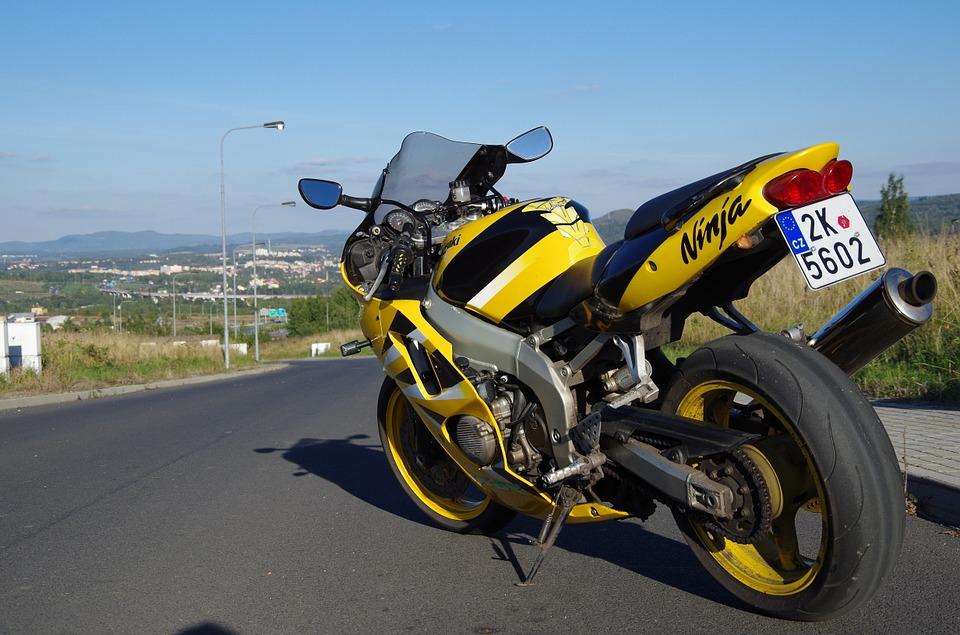 motorcycle, round, kawasaki