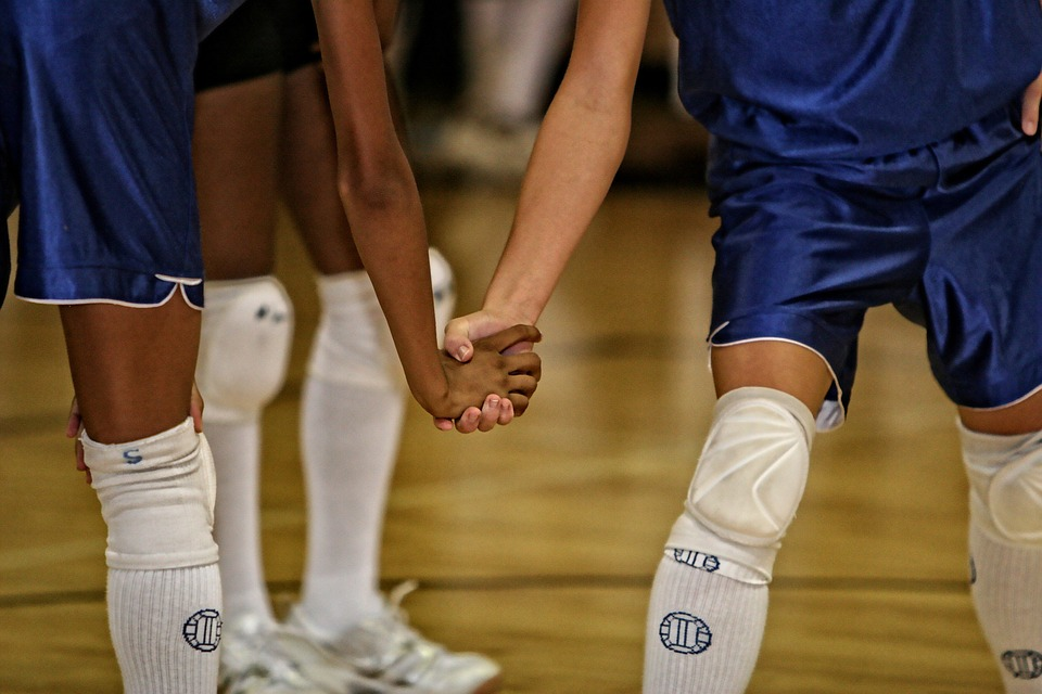 volleyball, team mates, friends