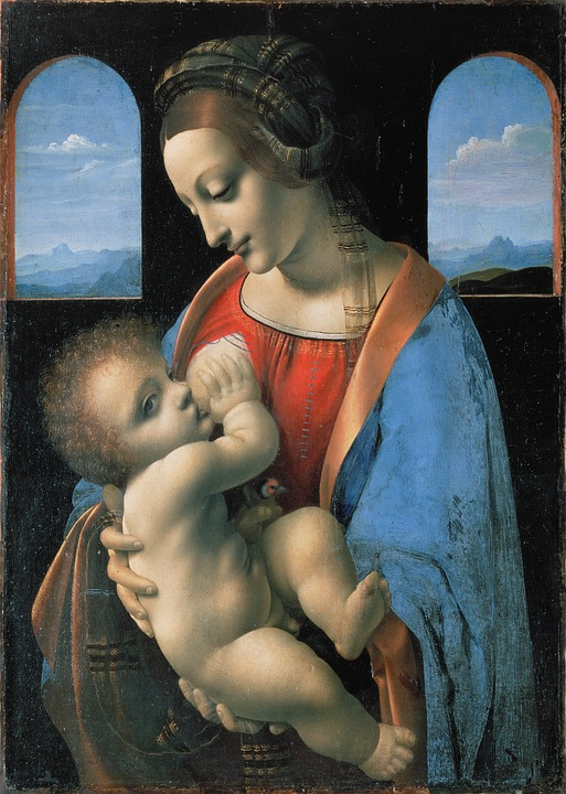 virgin mary, jesus, leonardo da vinci
