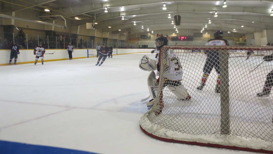 goalie, hockey, ice