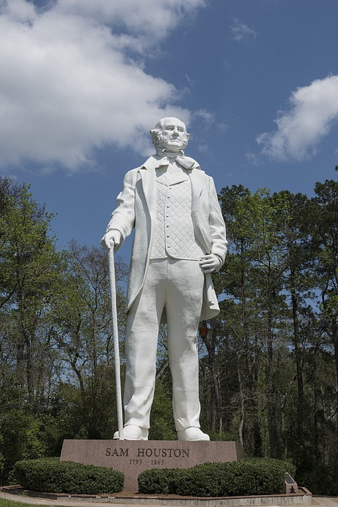 statue, sam houston, memorial