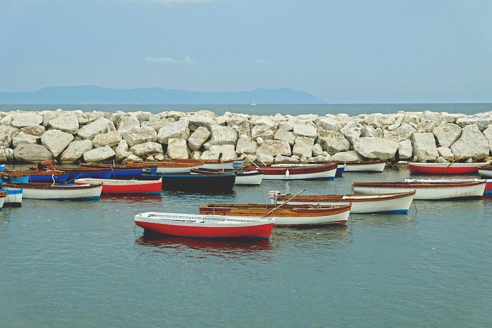 fishing, boats, wave