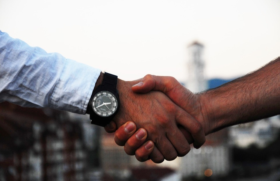 handshake, business, hand