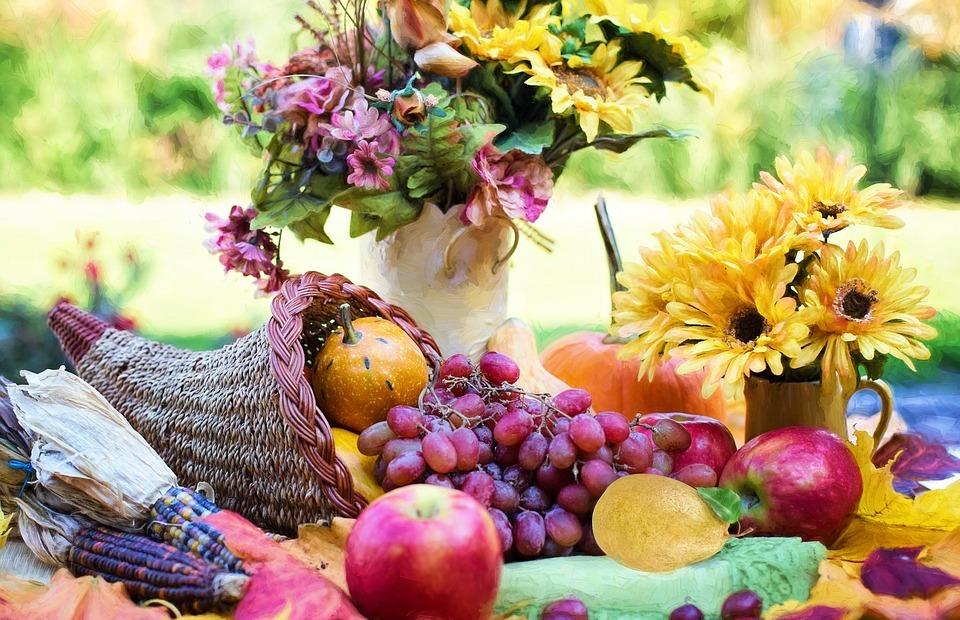 cornucopia, thanksgiving, autumn