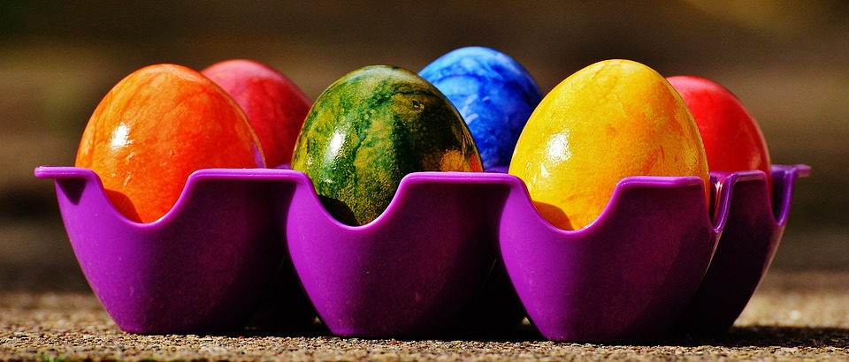 easter, easter eggs, colorful