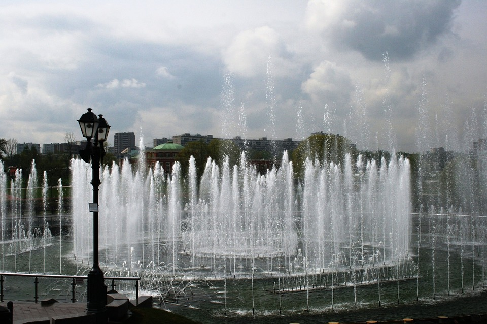 fountain, royal ponds, water
