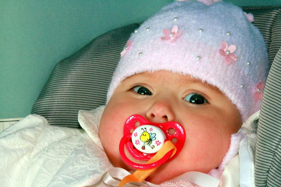 baby, girl, pacifier