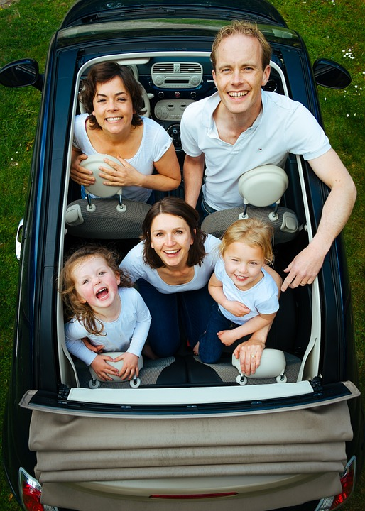 family, people, car