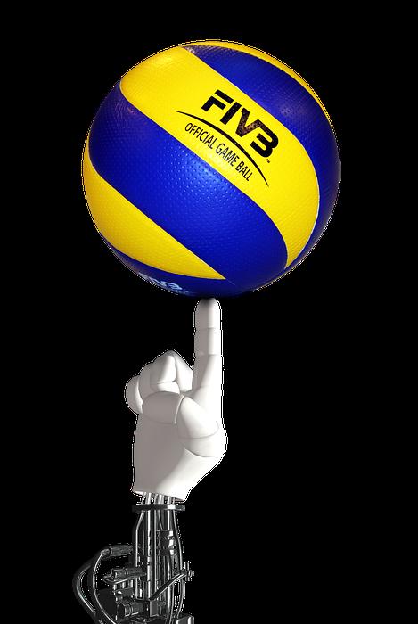 volleyball, ball, robot hand