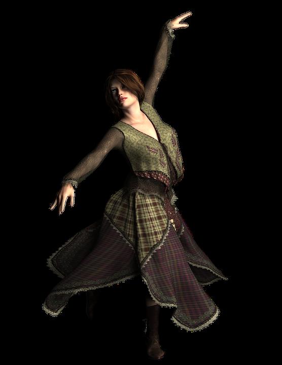 dancer, woman, girl