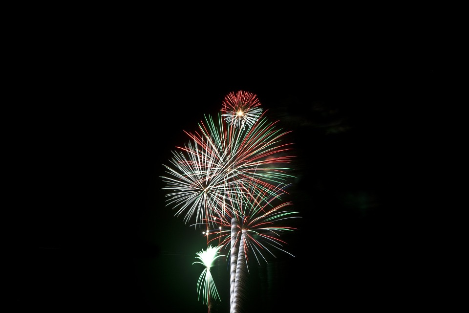 fireworks, independence, pyrotechnics